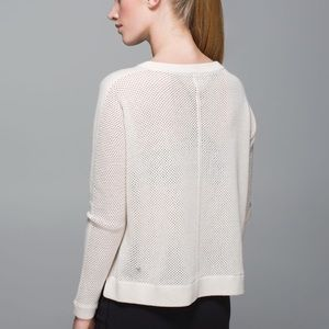 Lululemon Bhakti Life Sweater Heathered White